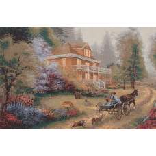 Carriage Drawn Stretched Wall Art Tapestry