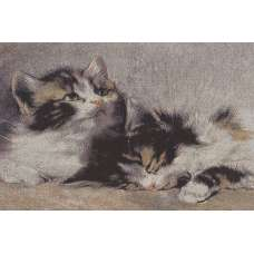 Cuddle Buddies Stretched Wall Tapestry
