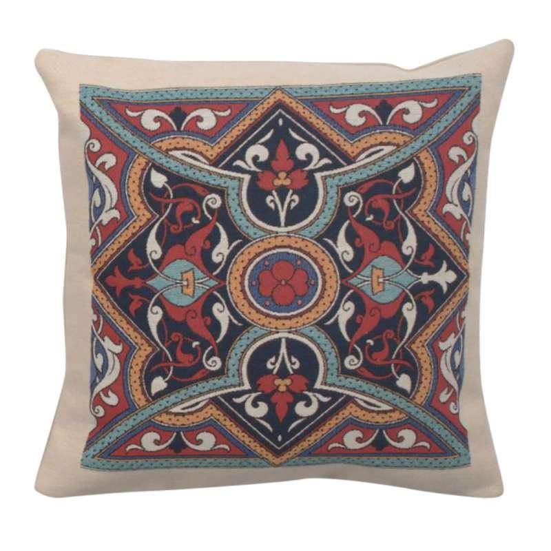 Poppy Mandala Decorative Pillow Cushion Cover