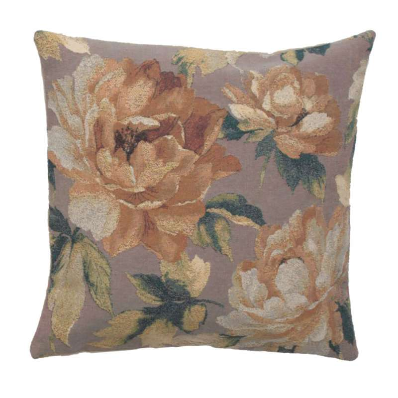 Sweet Blossoms Grey Decorative Pillow Cushion Cover