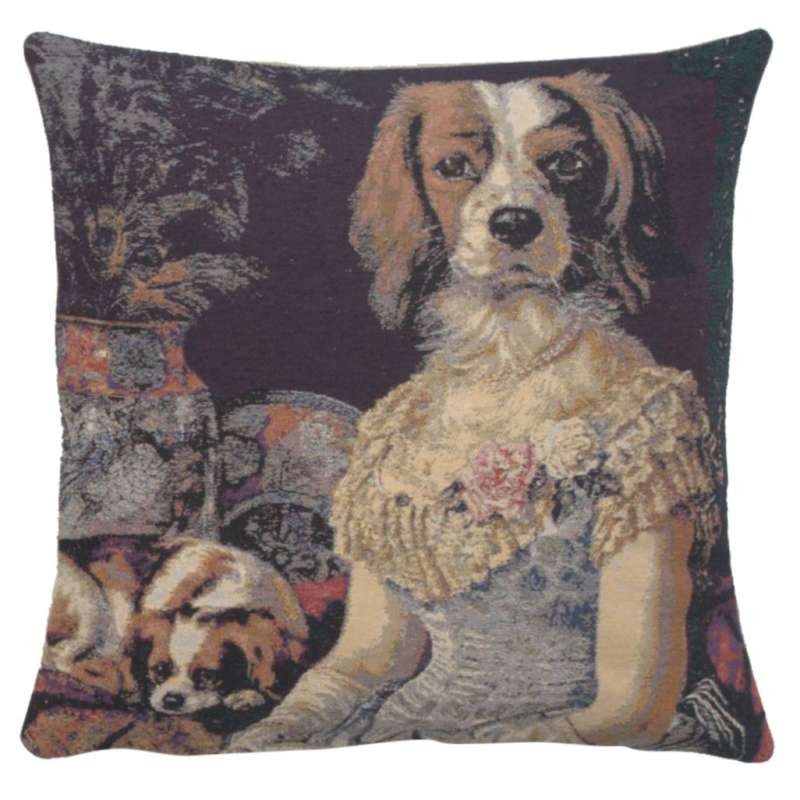 Poncelet Dame Decorative Pillow Cushion Cover