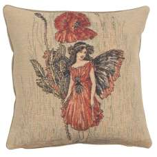 Poppy Fairy Cicely Mary Barker  European Cushion Cover