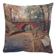 Red Bridge Decorative Pillow Cushion Cover