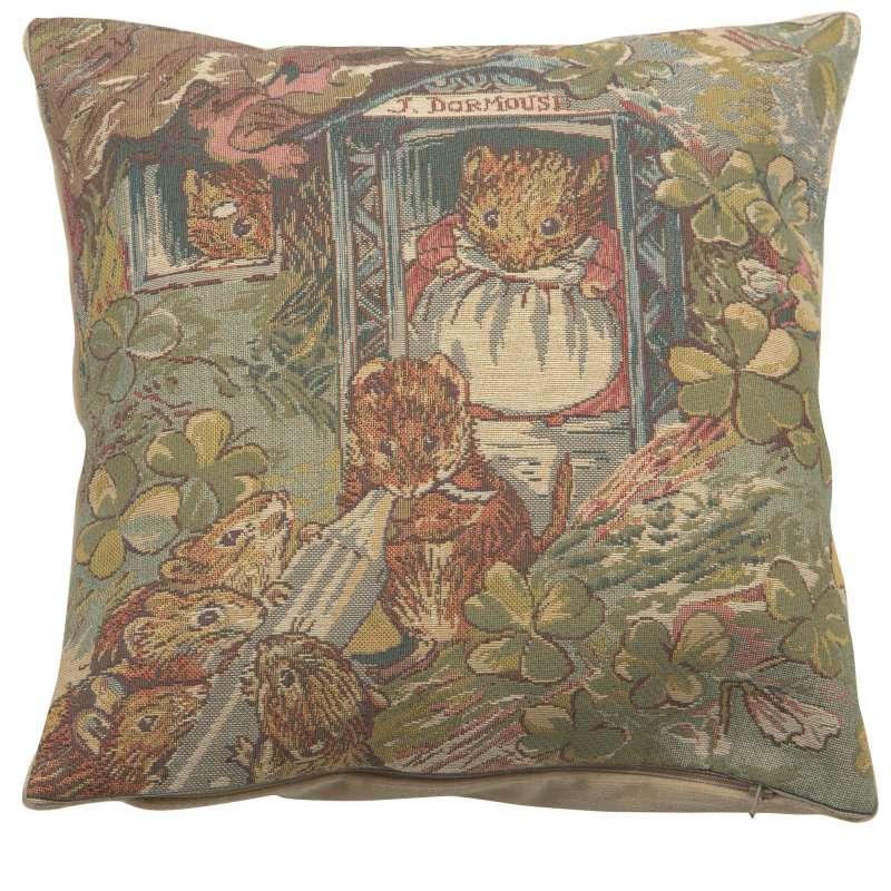 Miss Dormouse and Babies Beatrix Potter  European Cushion Covers