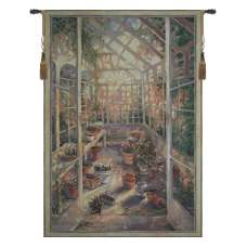 Greenhouse Retreat Tapestry Wall Art